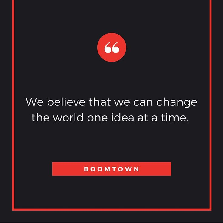 #boomtownsa #ideas #creativity #possibility