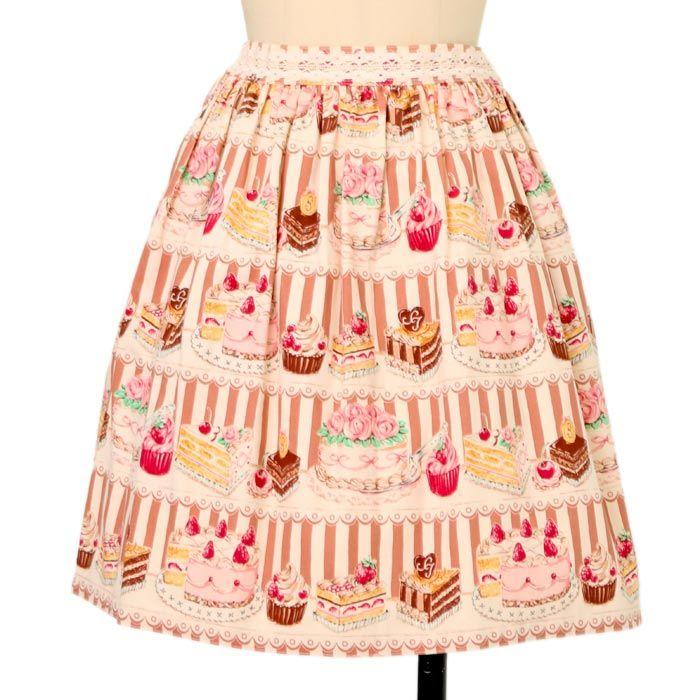 ケーキストライプスカート|ロリィタファッションshirly Temple | シャーリーテンプル|ロリータ ゴスロリ服・古着の通販はワンダーウェルト