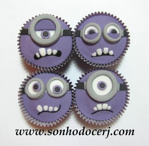 Cupcakes Minions malvados! curta nossa página no Facebook: www.facebook.com/sonhodocerj