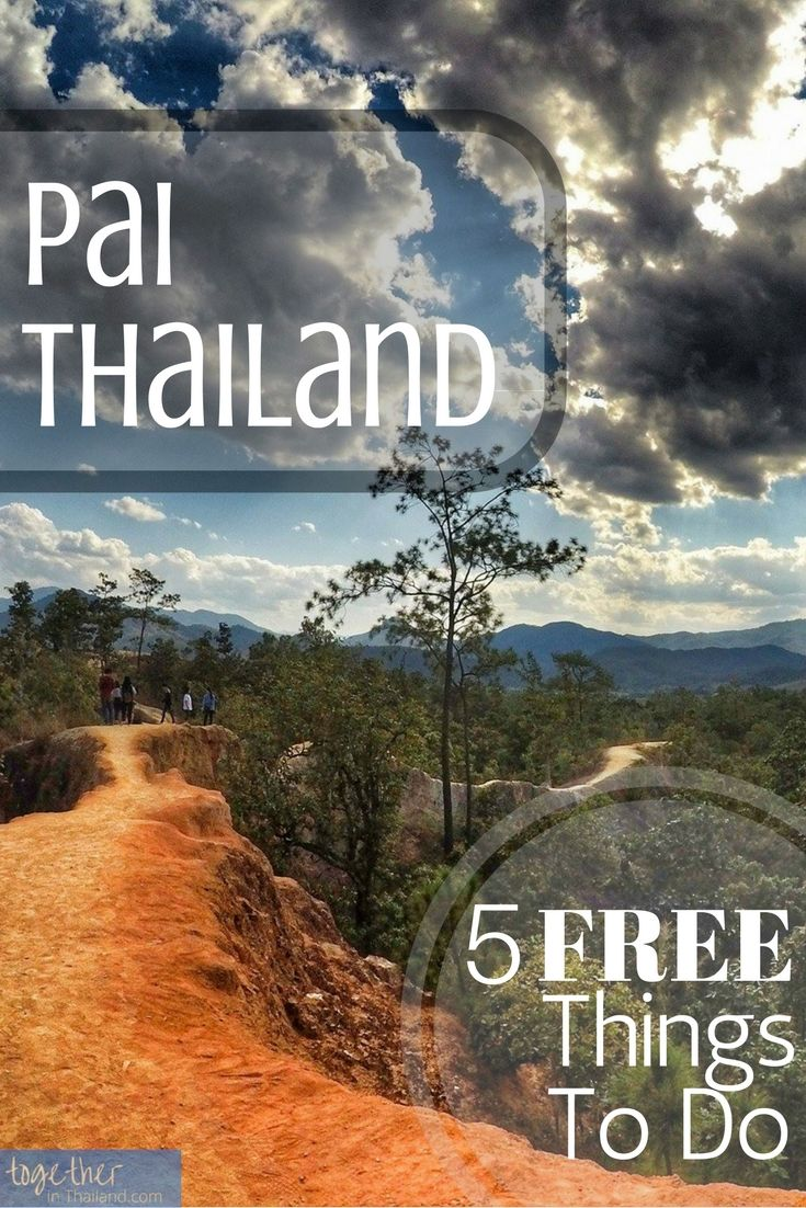 Pai is one of the best places to visit in Thailand and there are lots of things to do. Here's a list of free and cheap things to do that are adventurous, fun, and chill. An additional bonus activity and some travel tips included! click to see http://togetherinthailand.com/things-to-do-pai-free/