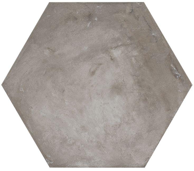 Konradssons Terra hexagon antracit matt 21,6x25 cm | Stonefactory.se