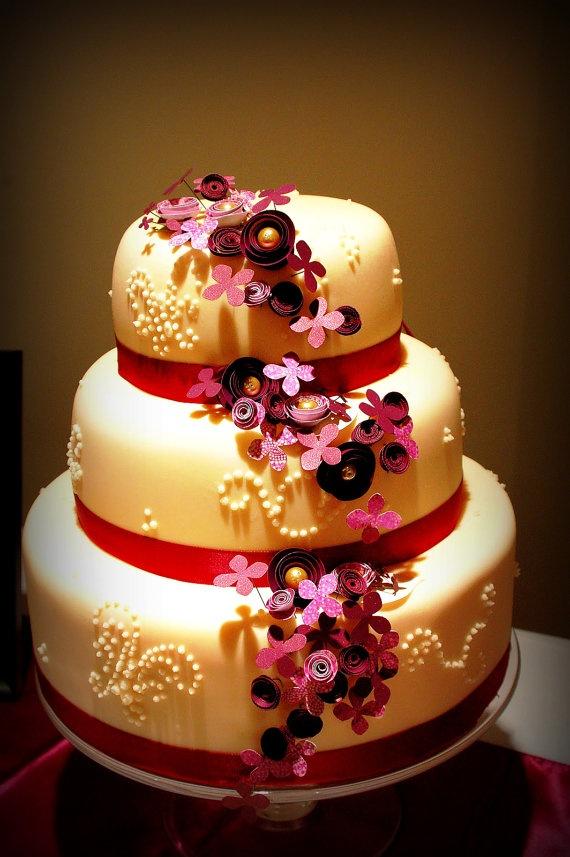 papercraft cake flowers