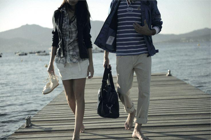 #NorthSails #collection #spring #summer #2011 #sails #sea #bridge #man #woman #walking