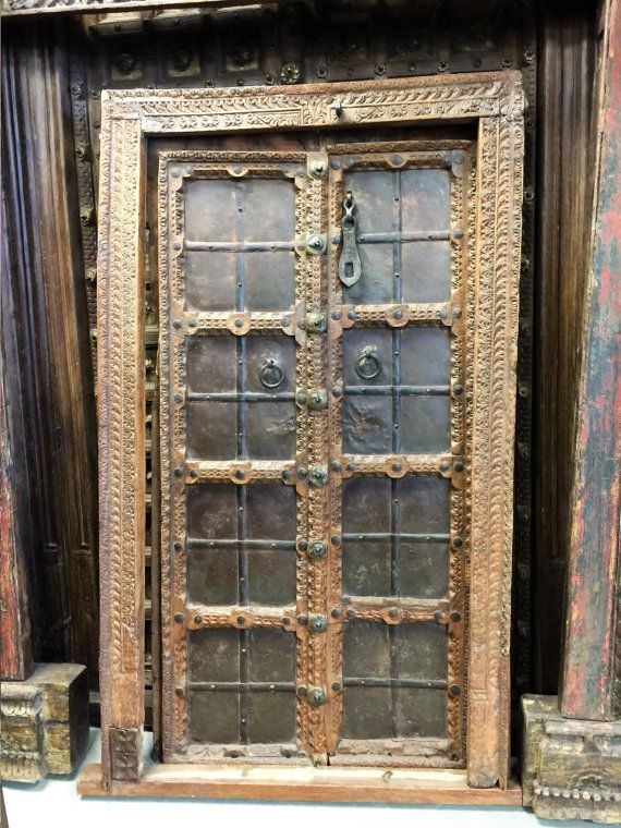 Mogulinterior Doors Hand Carved Reclaimed Teak by MOGULGALLERY