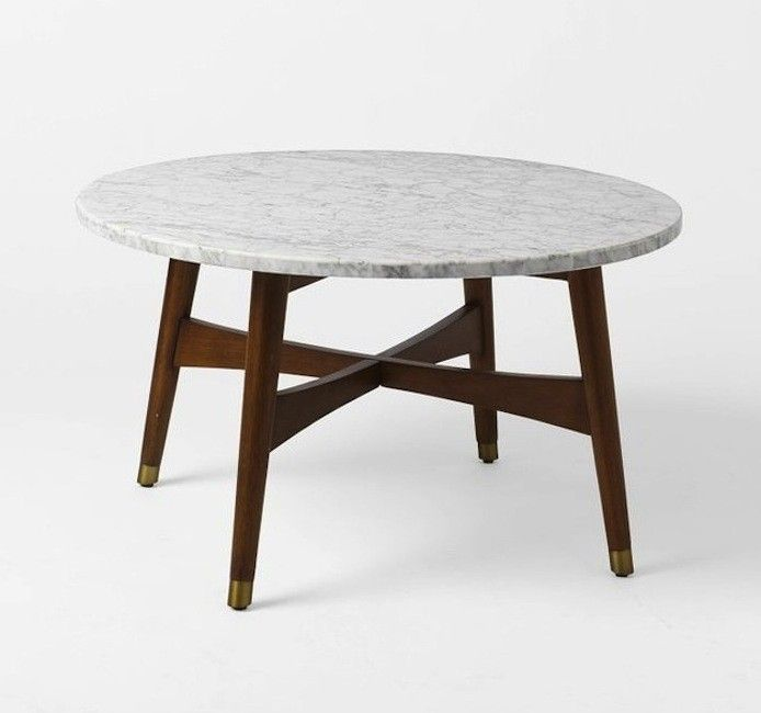 Above  A third option  West Elm s Reeve Mid Century Coffee Table with a63 best Marble top tables images on Pinterest   Marbles  Home and  . Marble Dining Table West Elm. Home Design Ideas