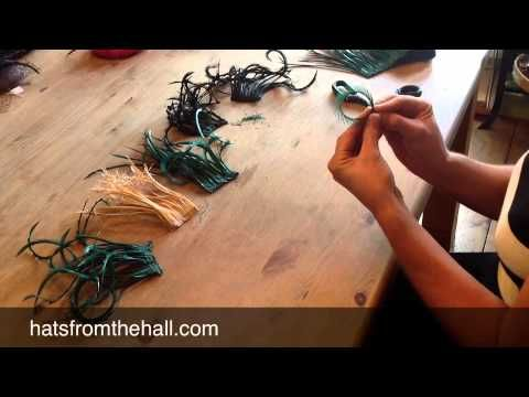 Millinery Feather Workshop.  Short video, but might come in handy some day.