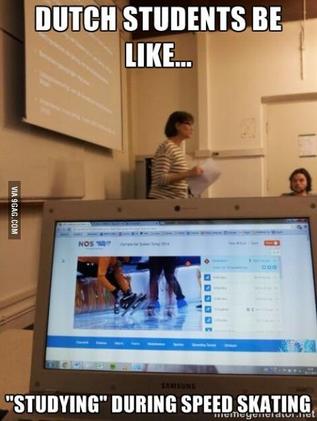 Dutch students be like...