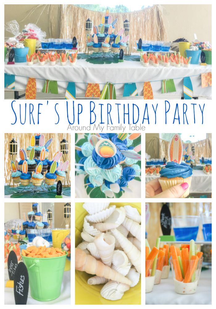 surf s up birthday party simple and fun surfing party ideas rh pinterest com