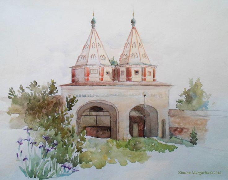 """In Suzdal"" by Margarita Zimina. ""В Суздале"". Маргарита Зимина."