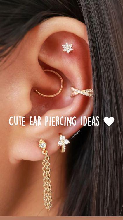 Pretty Ear Piercings, Face Piercings, Ear Piercings Cartilage, Daith Piercing, Peircings, Cartilage Earrings, Tragus, Ear Jewelry, Jewelery