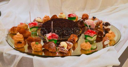 a plate of sweet treats