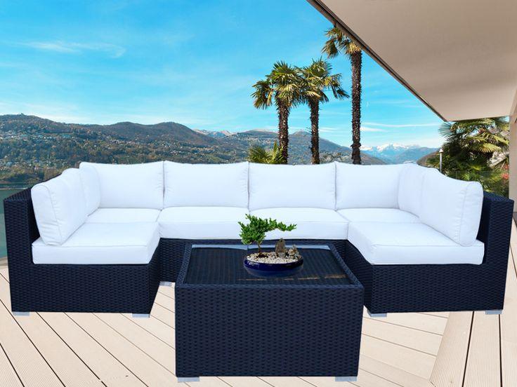 Black Majeston Modular Outdoor Furniture Lounge