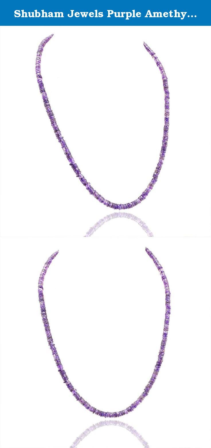 Shubham Jewels Purple Amethyst Gemstone Necklace for Women. Simple and Elegant Necklace collection from Shubham Jewels.