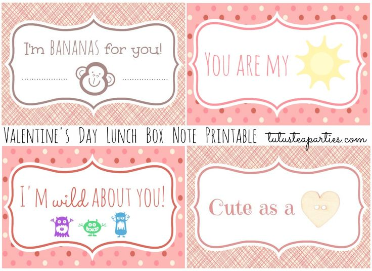 lunch note card printables  fun family crafts  lunch box