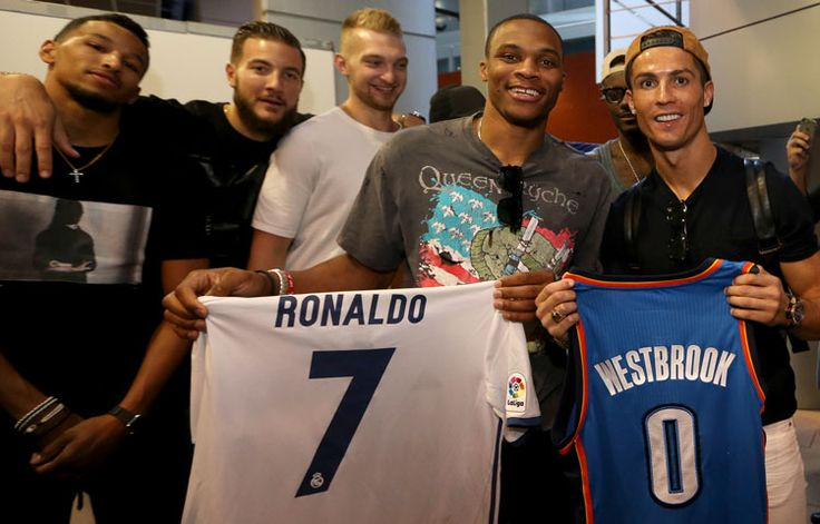 Westbrook and Ronaldo: When international superstars meet. Thunder in Madrid at NBA Global Games 2016. | okcthunder.com