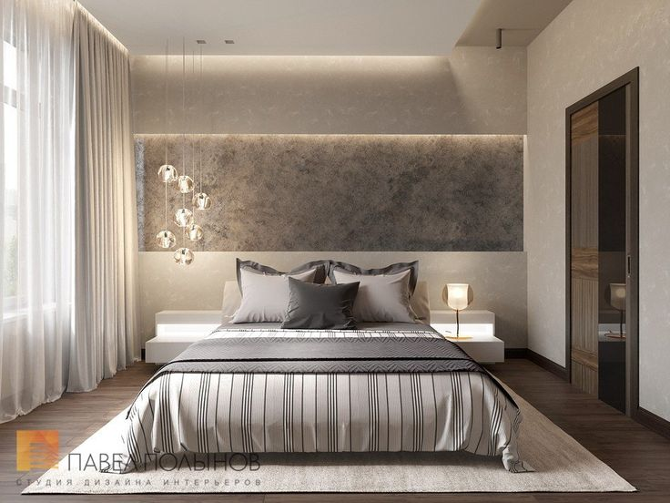 Интерьер спальни в современном стиле стиле, ЖК Duderhof Club