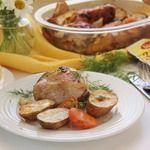 Куриные бедрышки с молодым картофелем