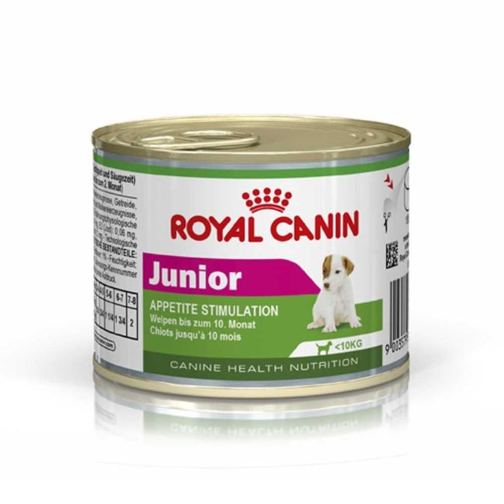 Royal Canin Junior Dog Food Tins 12 X 195g Royal Canin Junior Provides A Deliciously Nutritious Wet Food Dog Food Recipes Dog Food Online Royal Canin Dog Food