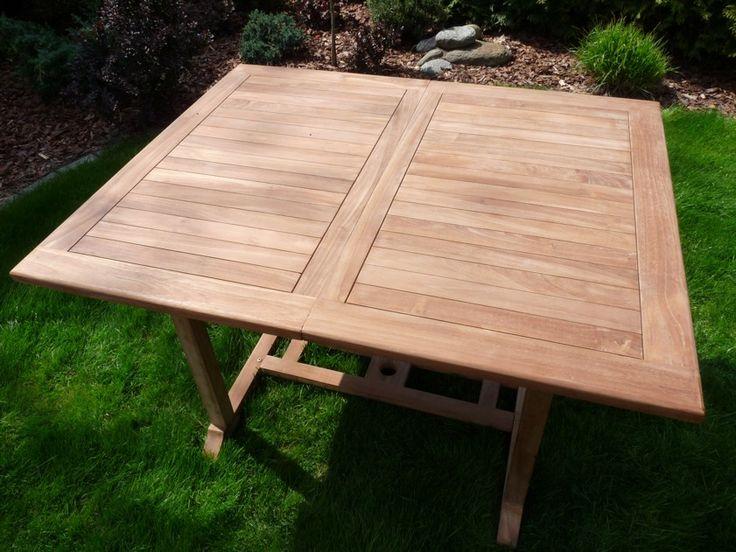 Zahradní stoly | Hranatý rozkládací stůl PALU 120/180 x 100 | Zahradní nábytek a sestavy - Texim