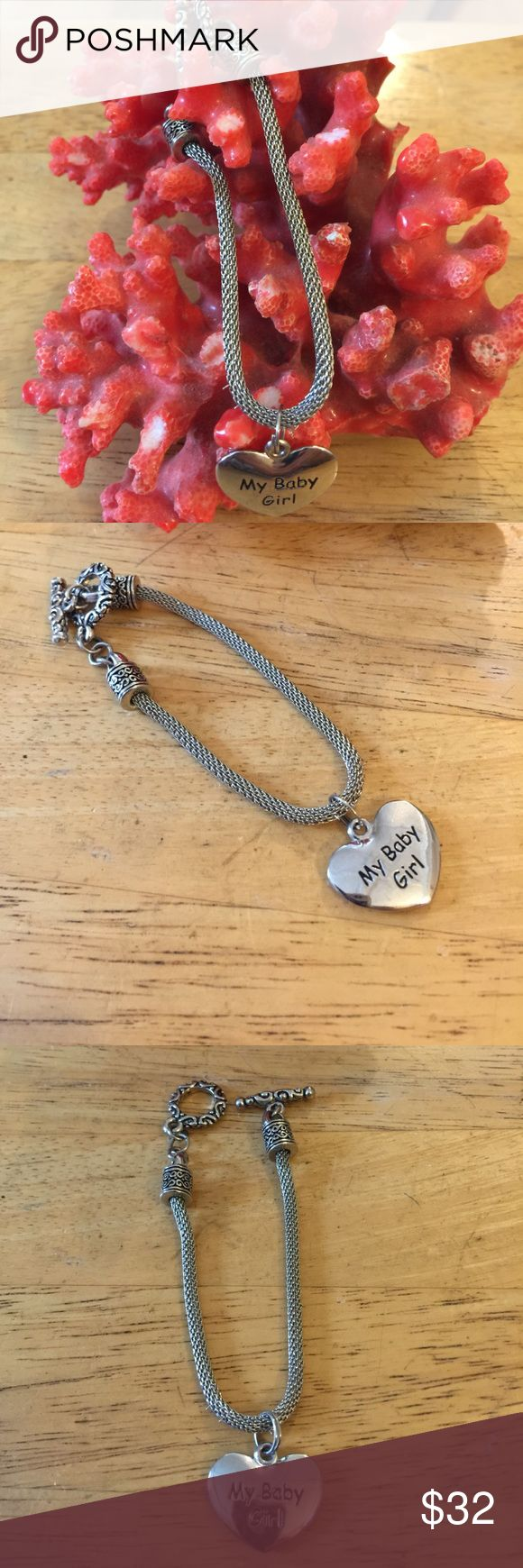 My baby girl mesh bracelet Gorgeous in silver plated mesh bracelet Jewelry Bracelets