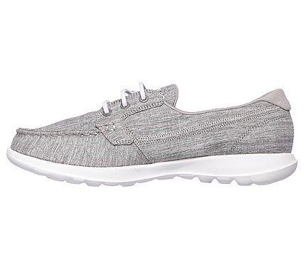 Skechers Women's GOwalk Lite Isla Boat Shoes (Grey/Grey)