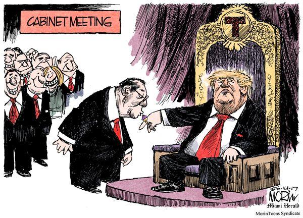 Kissing the Don's ring Jun 14, 2017 #Trumpocalypse #notmypresident #EmbarrassmentOfRiches