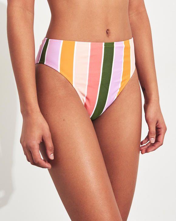 bb5cb695d0 Girls High-Waist High-Leg Bikini Bottom | Girls Swimwear | HollisterCo.com