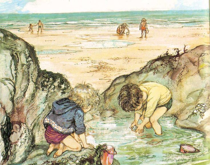 Shirley Hughes Lucy and Tom at the Seaside: rockpools