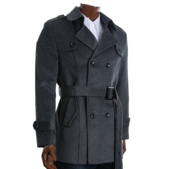 http://amzn.to/10l827t: FLATSEVEN Mens Designer Double Breasted Winter Pea Coat (CT212): Clothing
