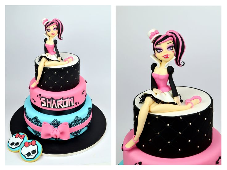 Monster High Cake - tutorial  Per il tutorial di DRACULAURA, clicca sul mio canale Etsy: www.etsy.com/shop/LallasCake   For DRACULAURA'S TUTORIAL, visit www.etsy.com/shop/LallasCake