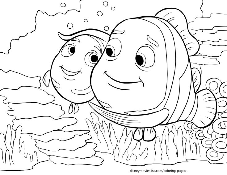 disneys finding nemo coloring pages sheet free disney printable finding nemo color page - Crush Finding Nemo Coloring Pages