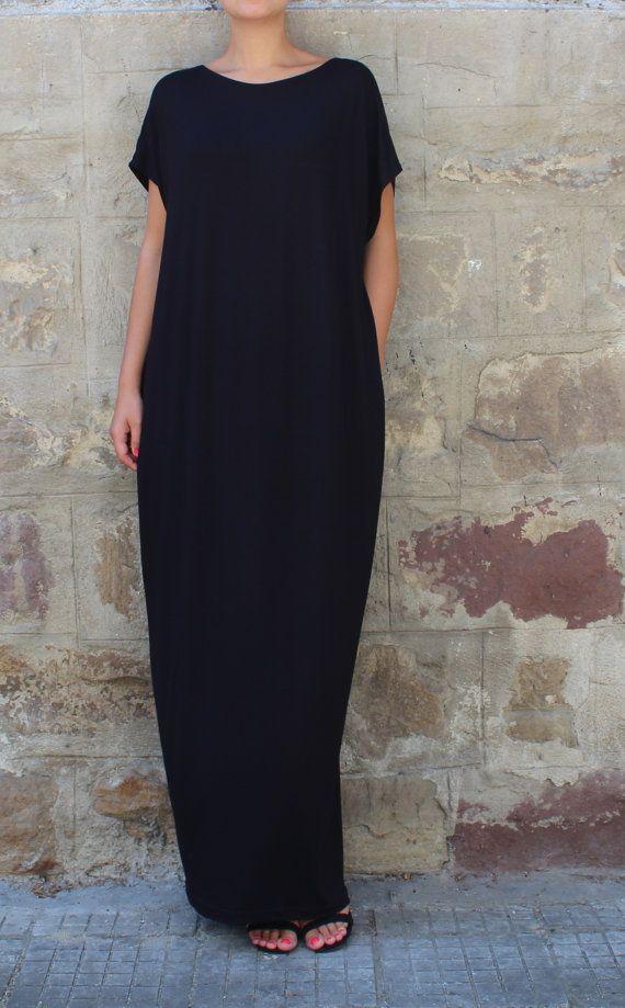 Caftan Black Dress Oversized dress Backless dress Maxi