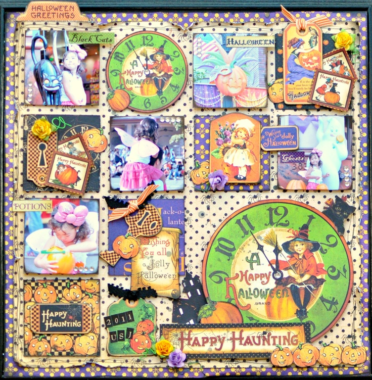 This is a layout using Happy Haunting.