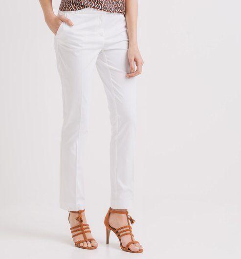 Spodnie damskie biały - Promod