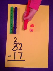 using place value blocks to help with double digit addition and subtraction- hands on activity to help learn