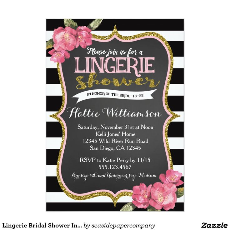 inexpensive wedding shower invitations%0A Lingerie Bridal Shower Invitation