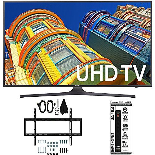 Bundle Includes Samsung UN55KU6300 - 55-Inch Smart 4K UHD LED TV Slim Flat Wall Mount Ultimate Bundle Kit for 32-60 inch TVs 6 Outlet Power Strip with Dual USB Ports Enjoy 4K Ultra HD resolution and H...