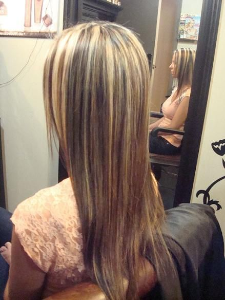 77 best different types of highlights images on pinterest hair blonde and caramel chunky highlights for dark hair pmusecretfo Choice Image
