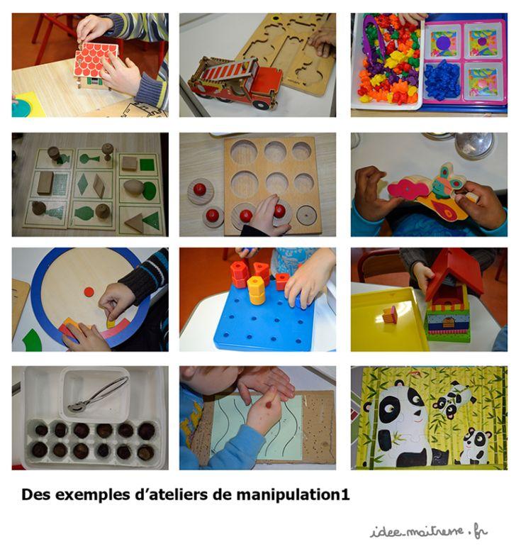 Ateliers de manipulation en classe: calme et concentration