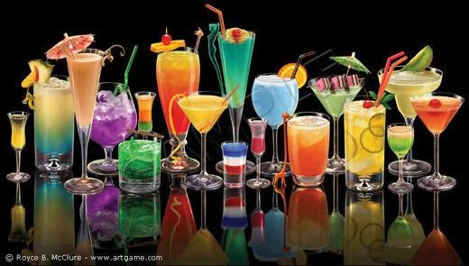 Sexy alcoholic mixed drinks recipes. French kiss, pink panties, affair, and between the sheets mixed drinks. Cocktails.