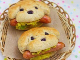 Panecillos de perritos con salchicha