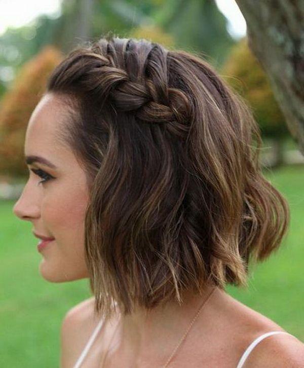 Image Result For Side Braid Short Hair Wedding Short Wedding Hair Short Hair Updo Short Hair Styles