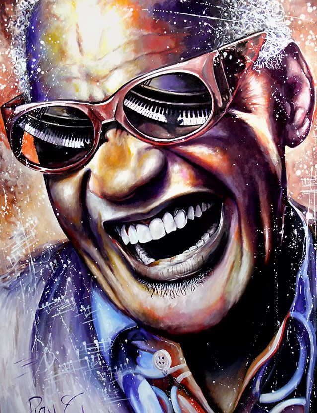 Ray Charles. Painting by Eric Marette