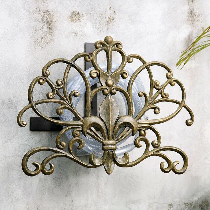 ornamento de jardín, sostén de manguera