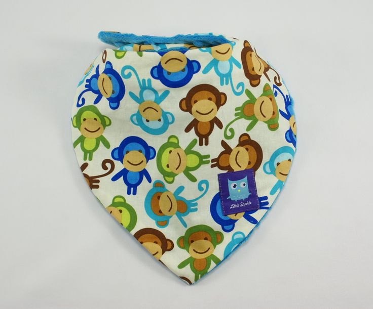 Little Sophie baby bib #babybib #monkey #littlesophie #scarf #babyscarf