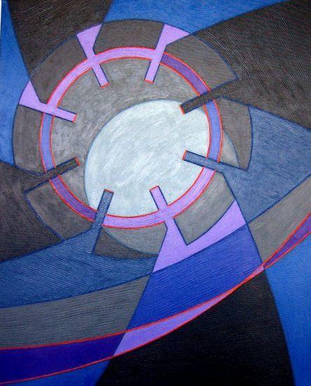 Pintura constructivista geométrica del autor contemporáneo Julio César Vera Lozada, pintor, escultor y diseñador venezolano.