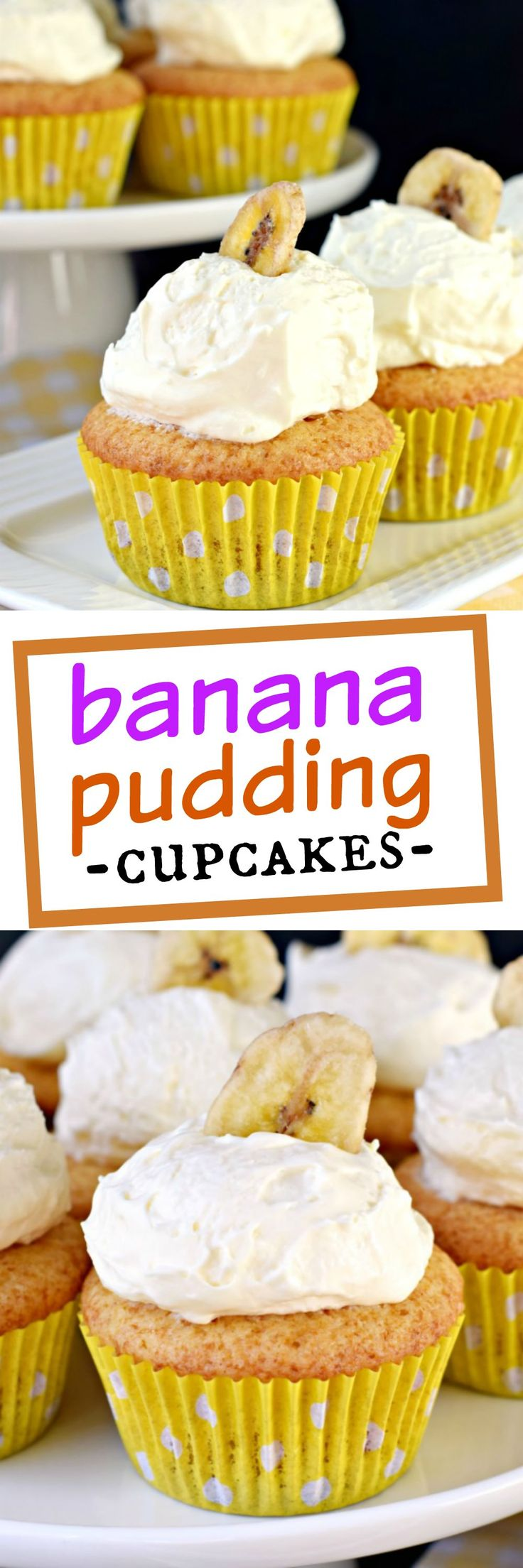 Crazy moist and fluffy, these Banana Pudding Cupcakes are the perfect dessert!