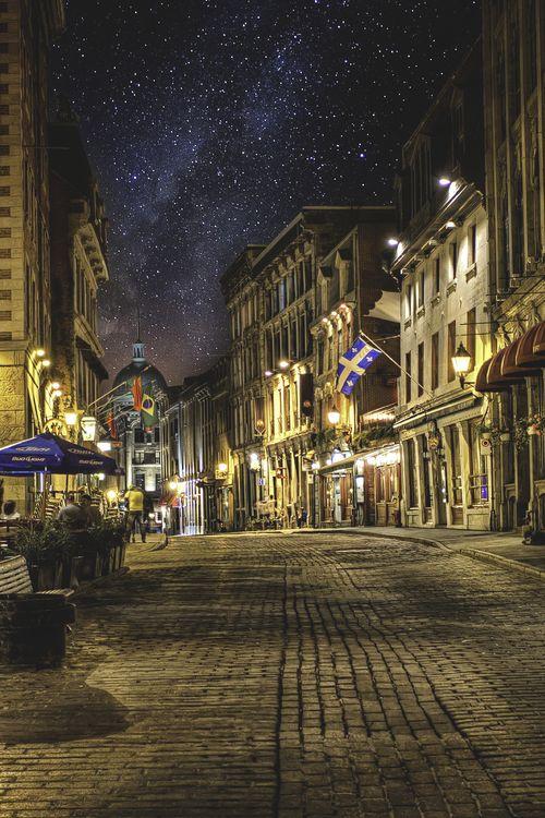Cobblestone Street, Montreal, Canada