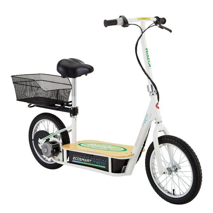 Razor EcoSmart Metro Electric Economical Green Scooter with Seat and Rack #Razor