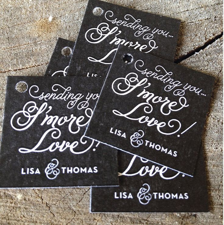 Wedding Favor Tags Pinterest : Wedding Favor TagsThank you tagsSending Smore Love Wedding Gift ...